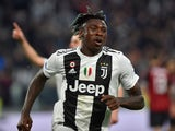 Juventus forward Moise Kean celebrates scoring the winner against AC Milan on April 6, 2019