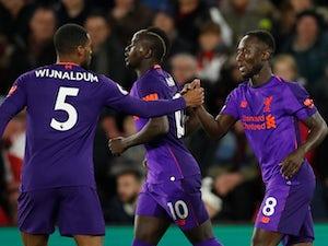 Liverpool's Naby Keita celebrates scoring against Southampton on April 5, 2019