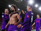 The beauty that is Mohamed Salah celebrates scoring against Southampton on April 5, 2019