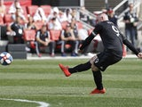 Wayne Rooney in action for DC United on April 6, 2019