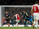 Lucas Torreira's shot deflects in off Kalidou Koulibaly as Arsenal double their lead against Napoli on April 11, 2019
