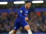 Eden Hazard in full-on action for Chelsea on April 8, 2019