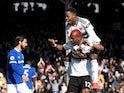 Fulham's Ryan Babel celebrates scoring against Everton on April 13, 2019