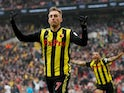 Watford's Gerard Deulofeu celebrates scoring against Wolves in the FA Cup semi-final on April 7, 2019