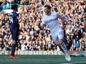Leeds United's Jack Harrison celebrates scoring their first goal against Sheffield Wednesday on April 13, 2019