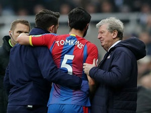 James Tomkins remains sidelined as Palace host Everton