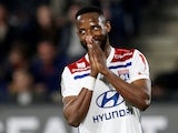 Lyon forward Moussa Dembele in action in March, 2019