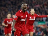 Liverpool midfielder Naby Keita celebrates scoring against Porto on April 9, 2019