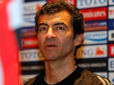 Troyes boss Rui Almeida pictured during his time in charge of the Syrian Olympic team in 2012.
