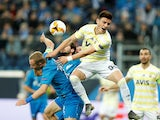Fenerbahce's Eljif Elmas in action with Zenit Saint Petersburg's Aleksandr Anyukov during a Europa League tie in February 2019
