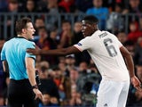 Manchester United midfielder Paul Pogba in action against Barcelona in the Champions League on April 16, 2019