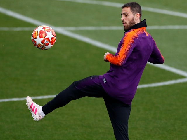 Bernardo Silva during Manchester City training on April 16, 2019