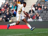 Chuks Aneke in action for the MK Dons on March 23, 2019