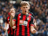 David Brooks celebrates scoring for Bournemouth on April 13, 2019
