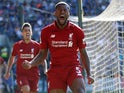 Georginio Wijnaldum opens the scoring during the Premier League game between Cardiff City and Liverpool on April 21, 2019