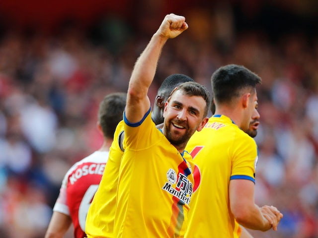 James McArthur extends his side's advantage during the Premier League game between Arsenal and Crystal Palace on April 21, 2019