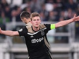 Matthijs de Ligt celebrates Ajax's second goal against Juventus on April 16, 2019
