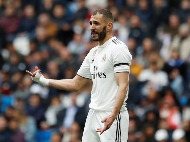 Karim Benzema in action for Real Madrid on April 21, 2019