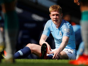 Kevin De Bruyne sits injured again on April 20, 2019