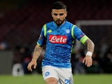 Lorenzo Insigne in action for Napoli on April 18, 2019