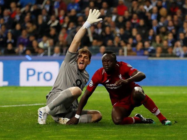 Sadio Mane scores for Liverpool against Porto in the Champions League on April 17, 2019.