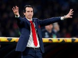 Unai Emery in charge of Arsenal on April 18, 2019