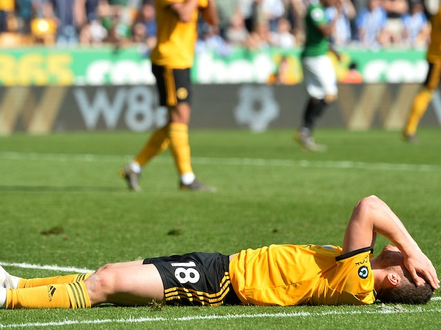 Result: Brighton end five-match losing run by holding Wolves to draw