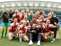 Arsenal Ladies celebrate winning the WSL title on April 28, 2019
