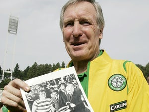 Ex-Rangers captain John Greig lays wreath for Billy McNeill