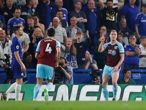 Ashley Barnes celebrates Burnley's second goal against Chelsea on April 22, 2019