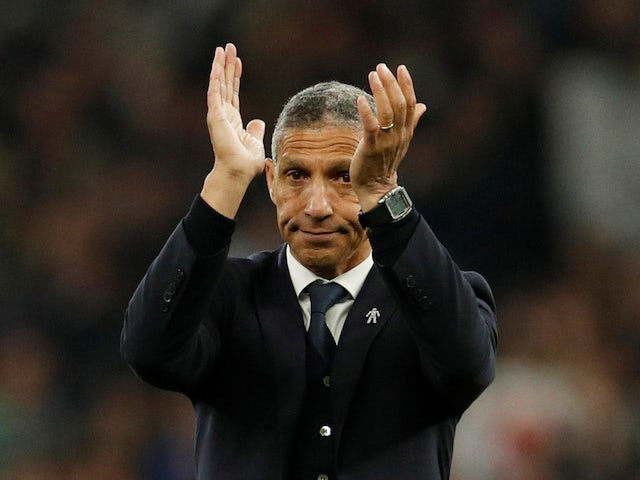 Brighton manager Chris Hughton on April 23, 2019