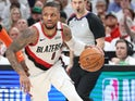 Damian Lillard in action for the Trail Blazers on April 23, 2019