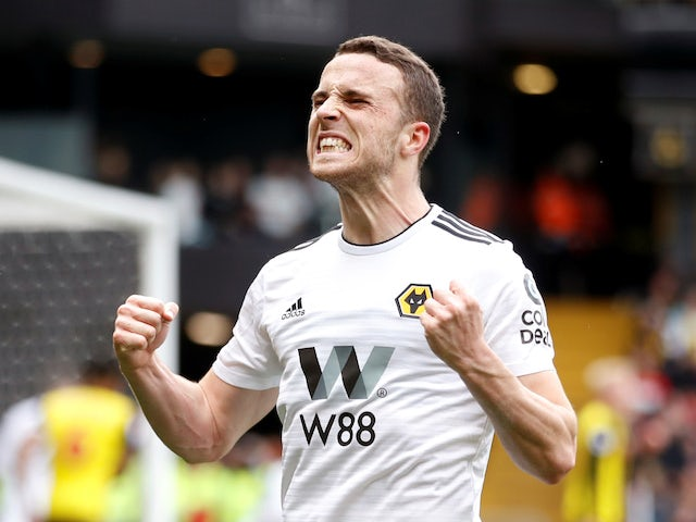 Diogo Jota in action for Wolves against Watford on April 27, 2019