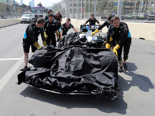 Azerbaijan GP practice abandoned after Russell accident