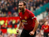 Juan Mata opens the scoring during the Premier League game between Manchester United and Chelsea on April 28, 2019