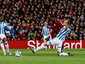 Naby Keita opens the scoring early doors during the Premier League game between Liverpool and Huddersfield Town on April 26, 2019