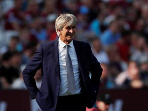 West Ham manager Manuel Pellegrini pictured on April 20, 2019