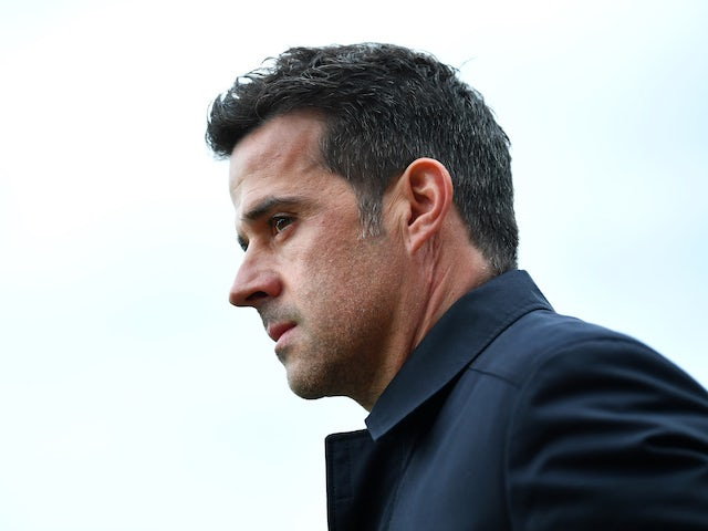 Everton manager Marco Silva watches the action on April 27, 2019
