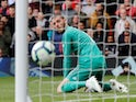 Manchester United goalkeeper David de Gea looks on after conceding against Chelsea on April 28, 2019