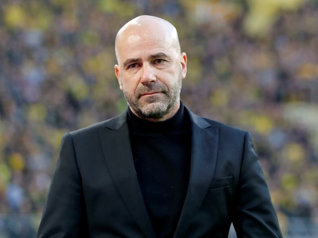 Bayer Leverkusen manager Peter Bosz pictured in February 2019
