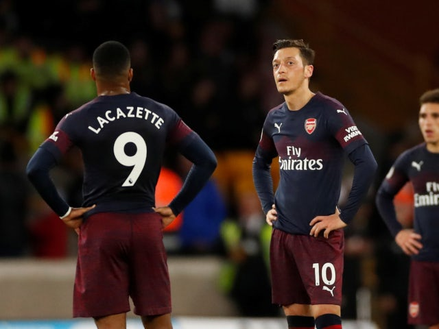 Arsenal are left stunned by goal from Wolverhampton Wanderers in Premier League fixture on April 24, 2019.