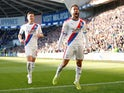 Crystal Palace's Andros Townsend celebrates scoring their third goal with Joel Ward against Cardiff on May 4, 2019