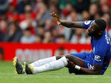 Chelsea's Antonio Rudiger suffers an injury against Manchester United in the Premier League on April 28, 2019.