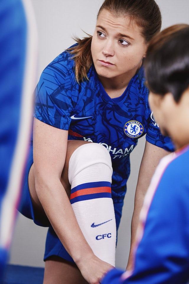 (Embargoed) Fran Kirby sports Chelsea's 2019-20 kit