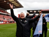 Sheffield United boss Chris Wilder celebrates promotion on May 5, 2019