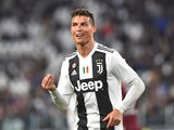 Juventus striker Cristiano Ronaldo celebrates scoring against Torino on May 3, 2019