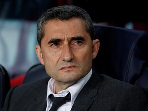 Barcelona boss Ernesto Valverde watches on during his side's match against Liverpool on May 1, 2019
