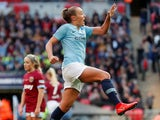Georgia Stanway celebrates scoring for Manchester City Women on May 4, 2019