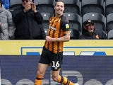 Jackson Irvine celebrates scoring for Hull City on May 5, 2019
