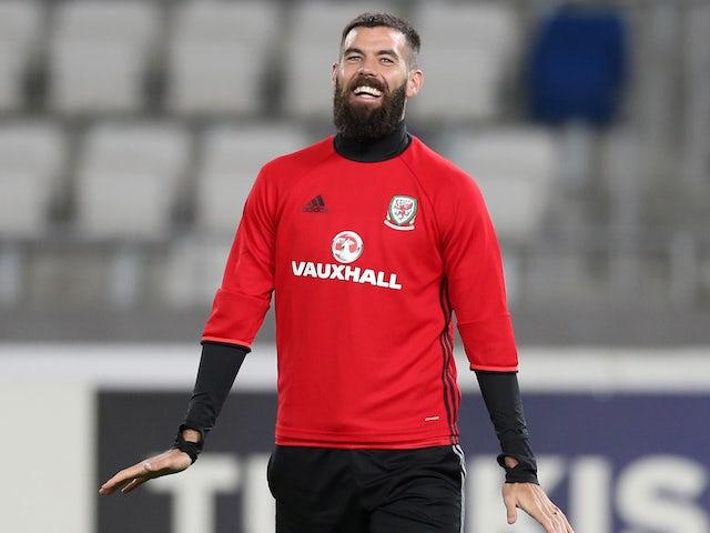 Joe Ledley in Wales training in late 2017